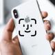Logo de FaceID sur fond d'un iPhone XS blanc